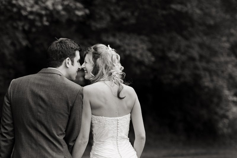 Black & white wedding photograph