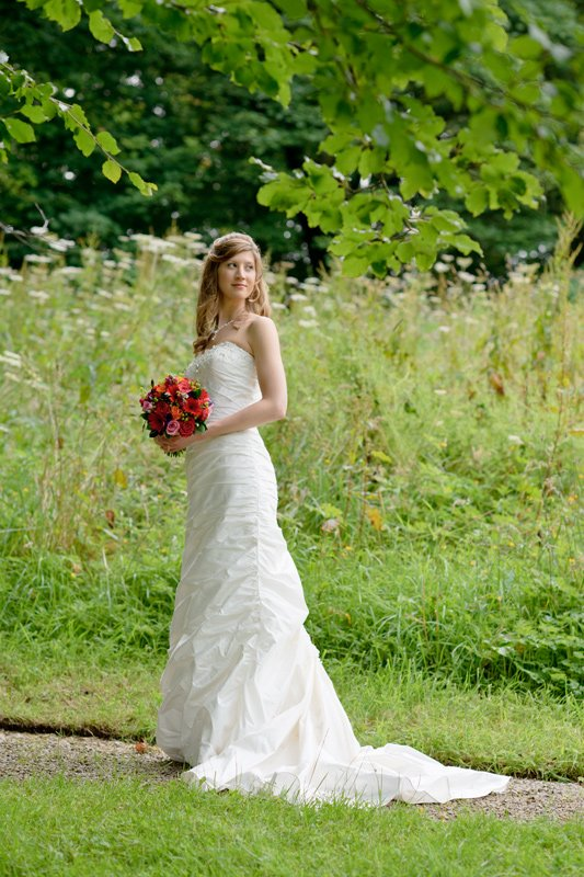 Bridal photograph at Hargate Hall in Derbyshire