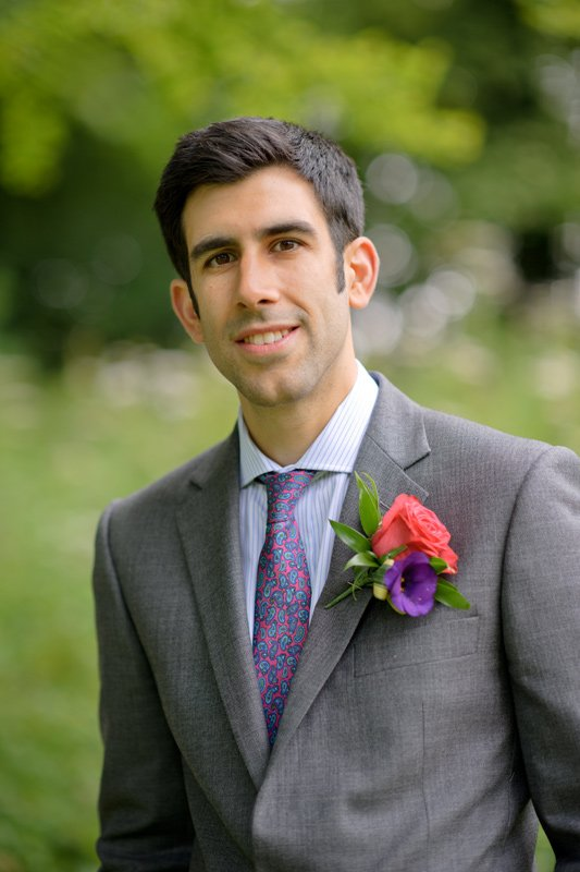 Groom at a wedding at Hargate Hall in Derbyshire
