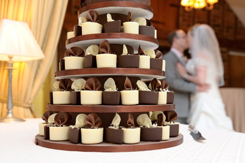wedding cake made of cup cakes