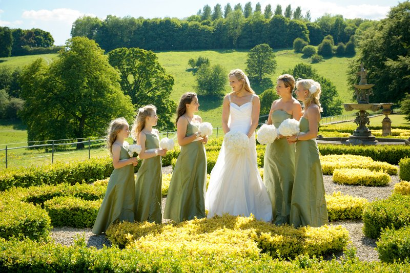 Wedding photography at Hassop Hall, Derbyshire
