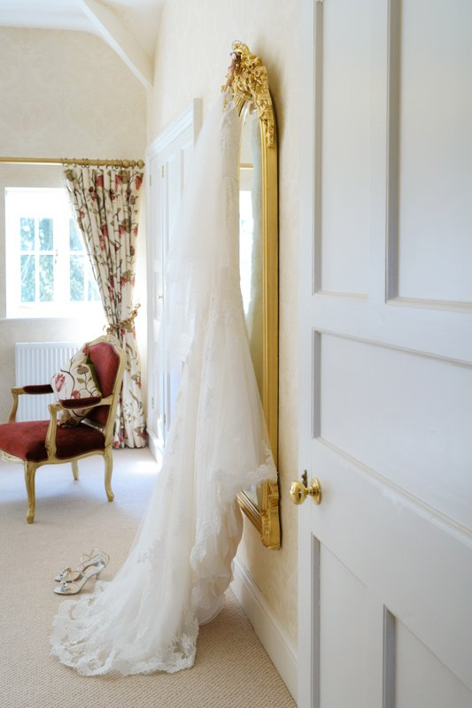 wedding dress at Dunstable Hall