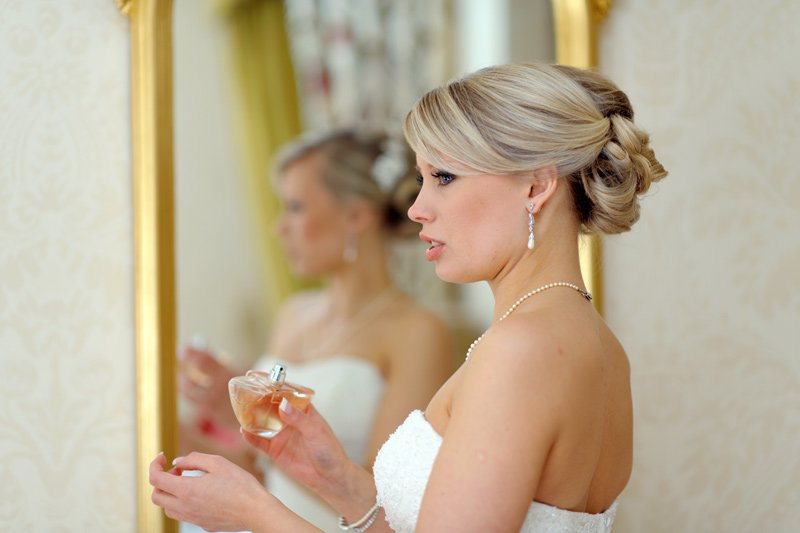bridal preparation at Dunstall Hall