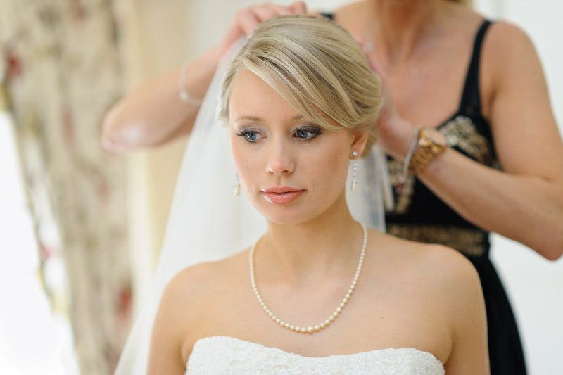 Bridal hair at Dunstable Hall in Staffordshire