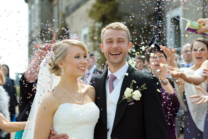 Wedding photography: confetti shot.