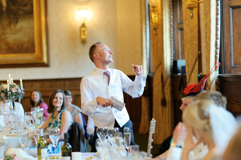 Wedding photography: the best man's speech.