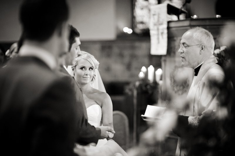 Derbyshire wedding photographer at a ceremony at Bakewell church