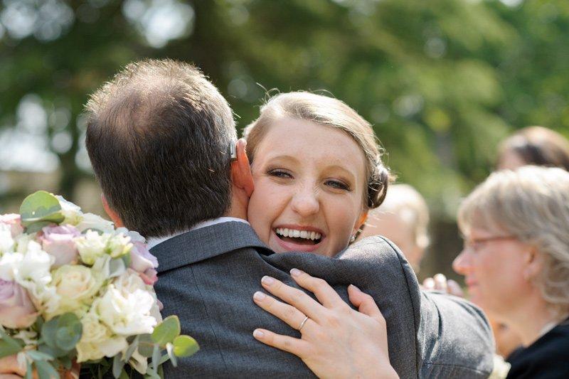 Informal wedding photography at Old Brampton Church