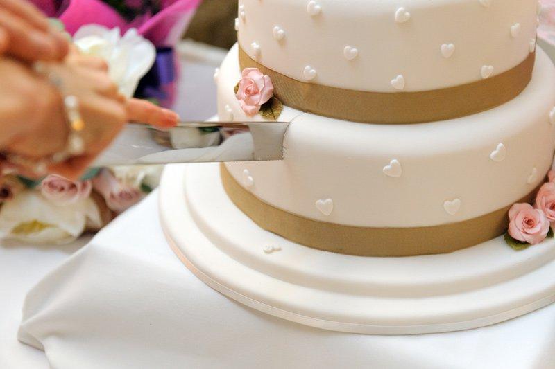 photograph of wedding cake
