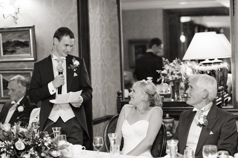 Wedding speeches at Whitley Hall, Sheffield