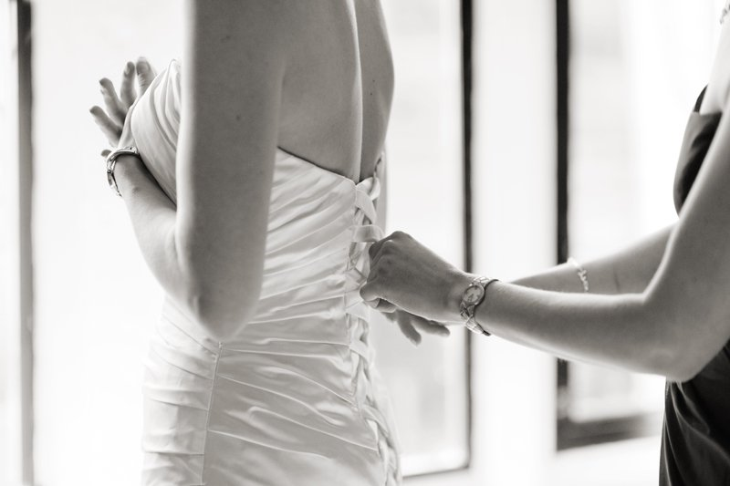 wedding; photography; photographers; Sheffield; The Maynard; Derbyshire; Getting ready. wedding photography: black & white