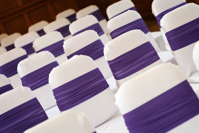 wedding; photography; photographers; Sheffield; The Maynard; Derbyshire; Getting ready. chair covers