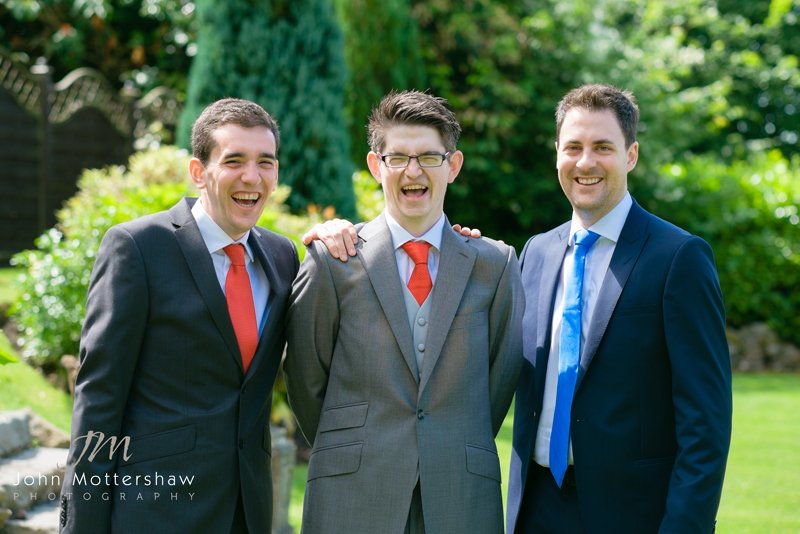 groom and groomsmen. Wedding photography at the Maynard near Sheffield