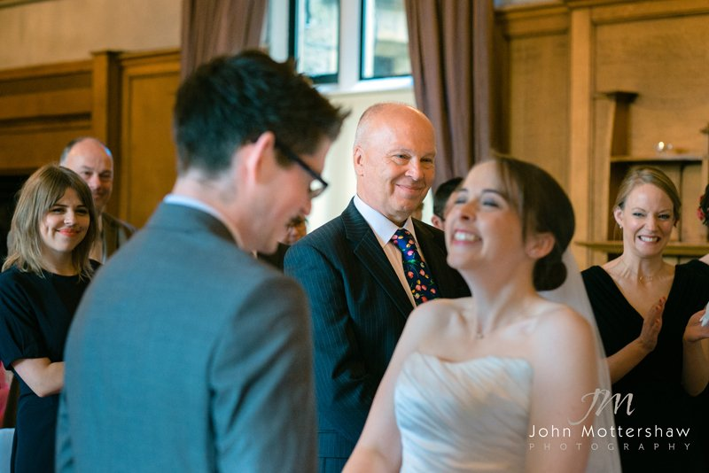 wedding photography at the Maynard, near Sheffield. Ceremony