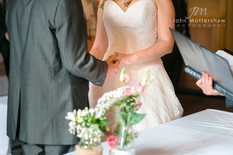 wedding ceremony, the Maynard in Derbyshire