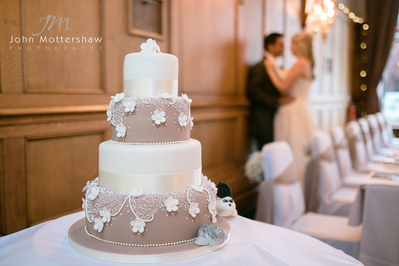 wedding cake at the Maynard, Derbyshire