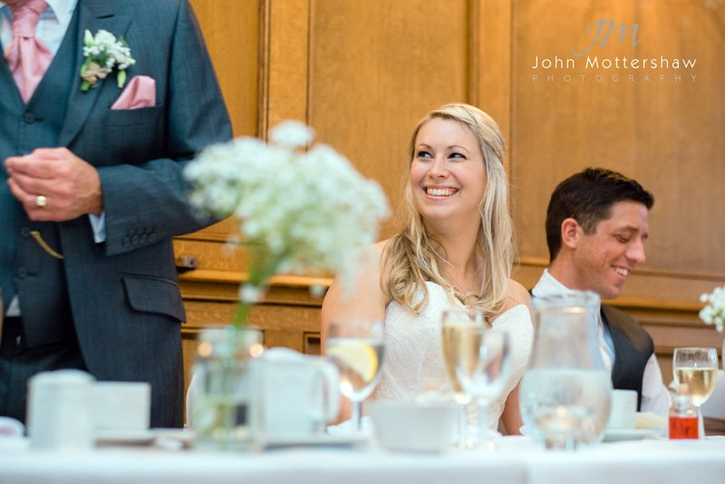 Wedding speeches at the Maynard in Grindleford in the Peak District
