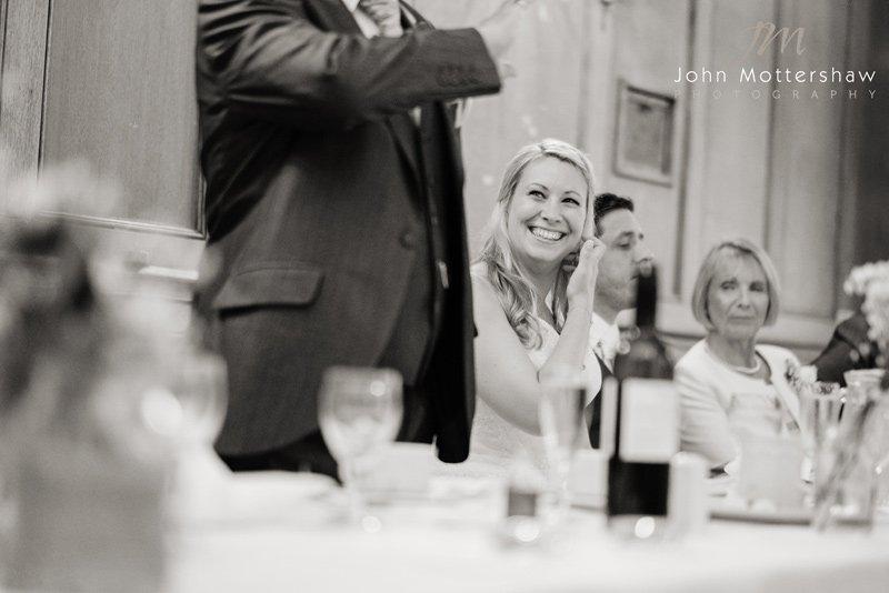 Wedding speeches at the Maynard in Grindleford near Sheffield