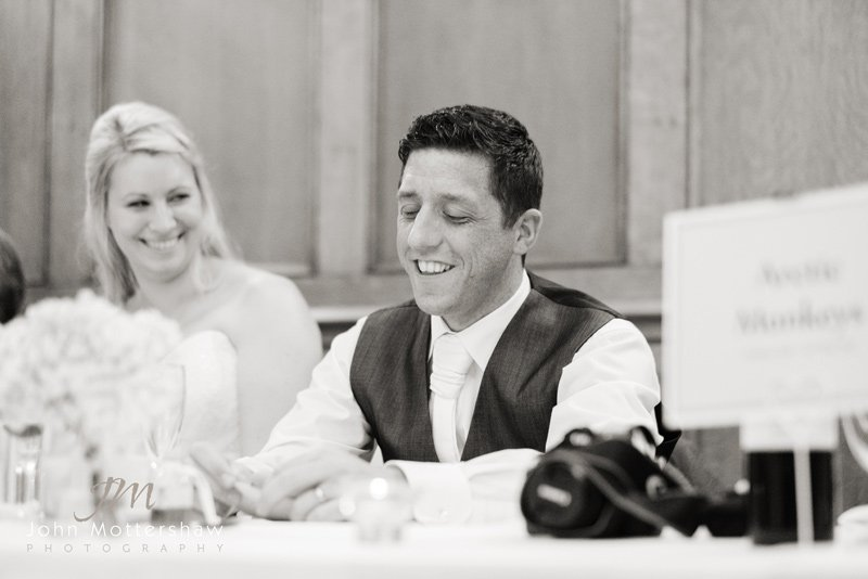 Wedding speeches at the Maynard in Grindleford in Derbyshire