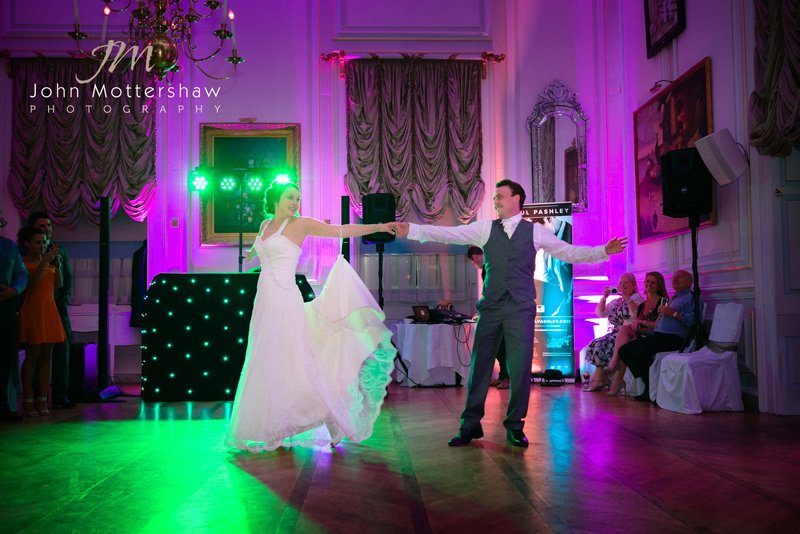 first dance at Hassop Hall