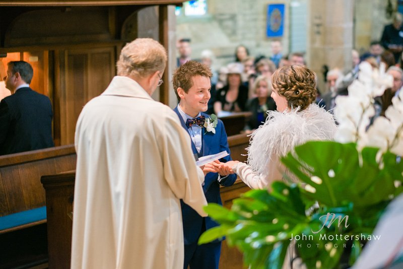 wedding photographers, Sheffield. Ceremony at St Michael's Church, Hathersage
