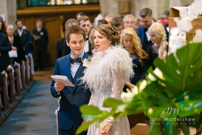 wedding photographers, Derbyshire. Ceremony at St Michael's Church, Hathersage