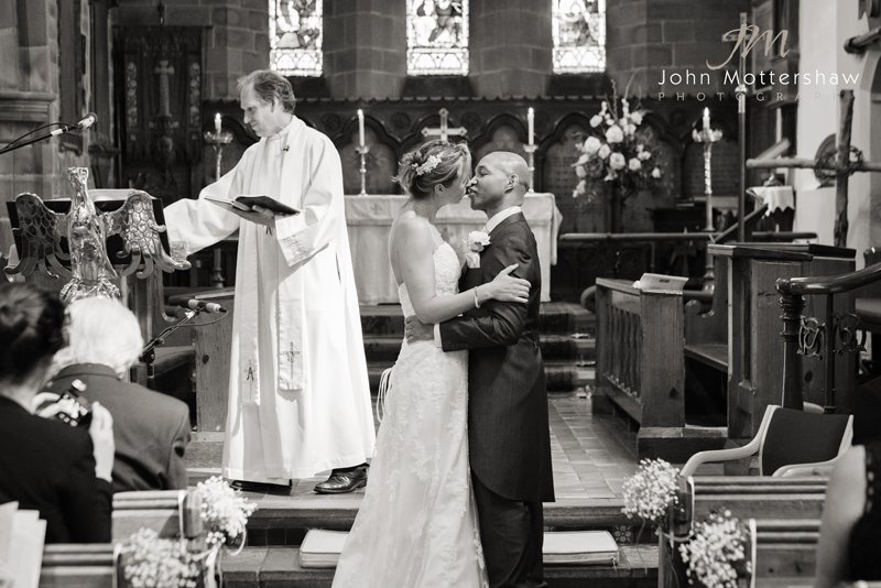 the first kiss at Eyam Church