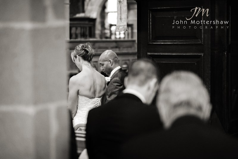 wedding photographer Sheffield in Eyam Church