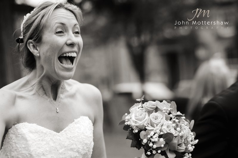 Peak District Wedding Photographer with a happy bride