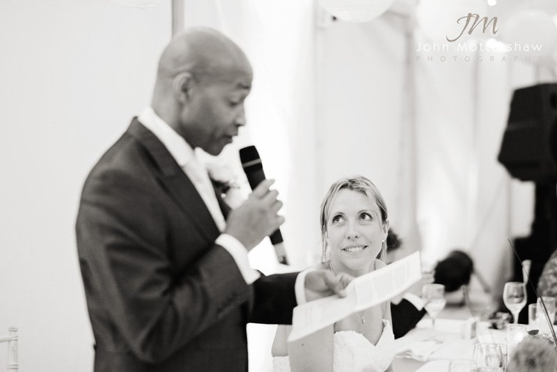Peak District Wedding Photographer, marquee reception, groom's speech